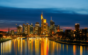 Skyline Frankfurt at Night